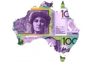 Australia as $100 dollar bill
