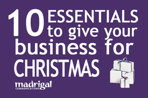 10 ESSENTIALS to give your business for Christmas image