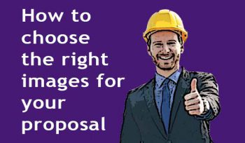 How to choose the right images for your proposal (or tender)—man wearing hard hat with thumbs up