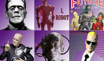the difference between robots and androids: frankenstein's monster; I robot; Captain Future; kryton; the borg; and max headroom