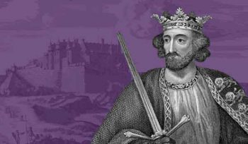 Edward I in front of Stirling Castle